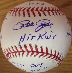 Pete Rose Inscribed Baseball