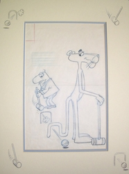 Pink Panther Croquet Original Drawing