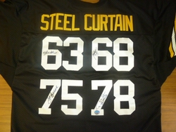 Pittsburgh Steelers Jersey <br> Signed By The Steel Curtain