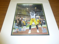 Pittsburgh Steelers Santonio Holmes <br> Signed 8x10 Photo