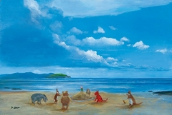 Pooh and Friends at the Seaside