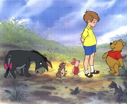Pooh, Christopher Robin, Piglet, Gopher & Eeyor
