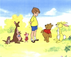 Pooh, Kanga,<BR> Roo, Rabbit, <BR>Christopher Robin, Piglet & Gopher