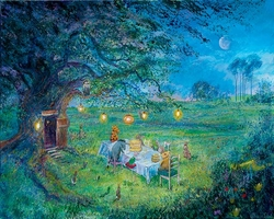 Pooh's 80th Garden<br> Party Canvas  - Sold Out