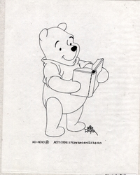 Pooh with a Book