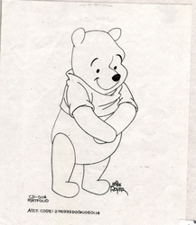 Pooh with his hands crossed