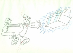 Popeye & Olive Production Drawing