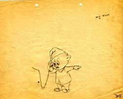 Porky Pig Original Production Drawing #2