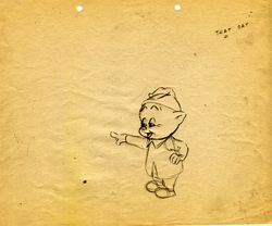 Porky Pig Original Production Drawing