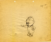 Porky Pig Original Production Drawing - Production Drawings