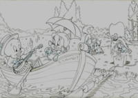Porky Pig, Petunia & Yosemite Sam - Production Drawings