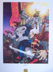 Punisher Signed Litho