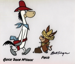 Quick Draw McGraw & Poco Model Cel