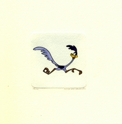 Road Runner Running <br>Right Small Etching