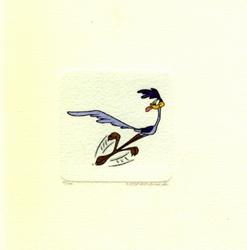 Road Runner Running <br>Small Etching