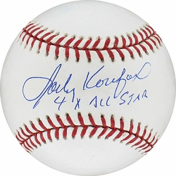 "Sandy Koufax MLB Baseball <br>w/ ""4x All Star"" Insc."