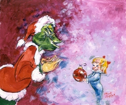 Santa's Little Helper Giclee