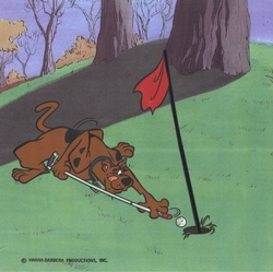 Scooby Doo Playing Golf #1