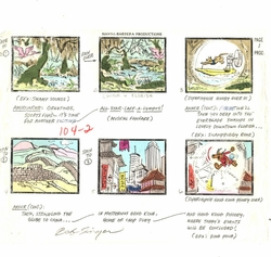 """Scooby's All Stars Laff-A-Lmpics"" Hand Colored Story Board"