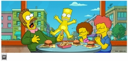 Simpsons Movie Bart on Glass