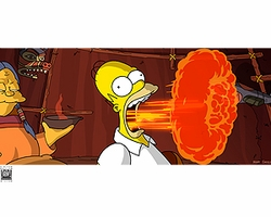 Simpsons Movie Flaming Homer