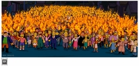 Simpsons Movie Mob with Torches - Simpsons Art