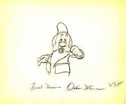 "Sleepy  from ""Snow White""(1937)<br> Signed Prod Drawing#234"