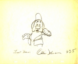 "Sleepy from ""Snow White""(1937)<br> Signed Prod Drawing#235"