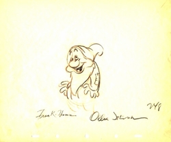 "Sleepy  from ""Snow White""(1937)<br> Signed Prod Drawing#248"