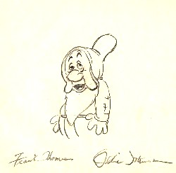 "Sleepy  from ""Snow White""(1937)<br> Signed Prod Drawing#251"