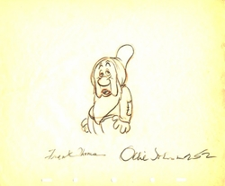 "Sleepy  from ""Snow White""(1937)<br> Signed Prod Drawing#252"