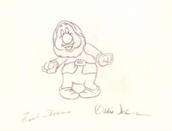 "Sneezy  from ""Snow White""(1937)<br> Signed Prod Drawing#126"