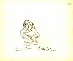 "Sneezy  from ""Snow White""(1937)<br> Signed Prod Drawing #186"