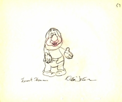 "Sneezy  from ""Snow White""(1937)<br> Signed Prod Drawing #57"