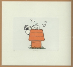 Snoopy Numbered Etching