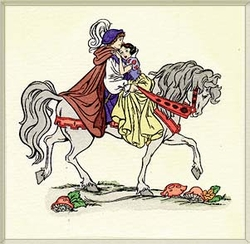 Snow White and Prince <br>Large Color Etching