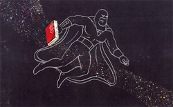 Space Ghost with book