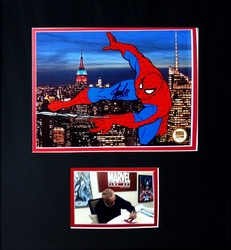 Spiderman DELUXE Signed<br> Cel & Stan Lee Picture