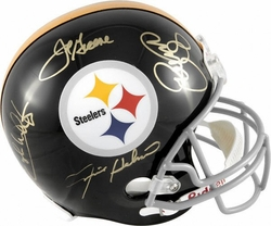 Steel Curtain Signed Helmet