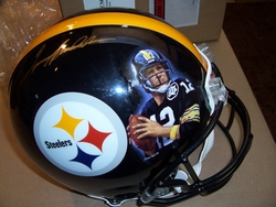 Steelers Helmet with <br>  Hand Painted Image