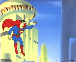 "Superman ""Super Friends 1970's"" Original Production Cel & Drawing"