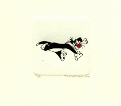 Sylvester Running <br>Small Etching