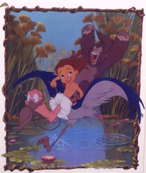 Tarzan Riding Bird