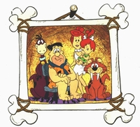 The Flintstones   Family <br>Portrait Publicity Cel<br><font color=red>Please Call - Flintstones