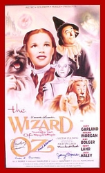 The Wizard of Oz Movie Litho 8 signatures