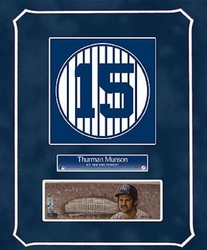 Thurman Munson Collage<br> with Original Painting