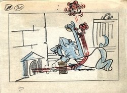 Tom & Jerry Storyboard #20 from 1961