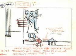 Tom & Jerry Storyboard<br> #98 from 1961