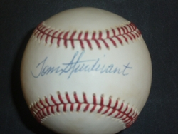 Tom Sturdivant Signed Baseball <br>