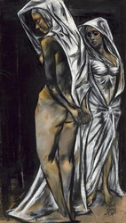Two Draped Figures